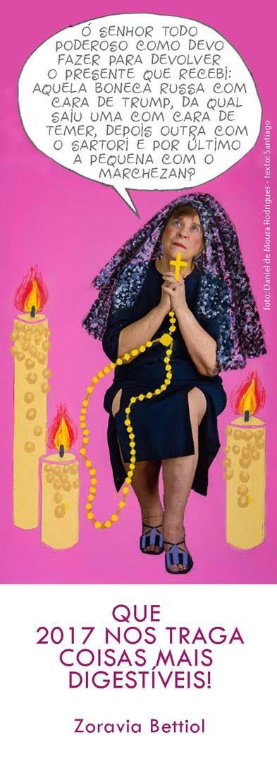 O cartão virtual de ano novo de Zoravia Bettiol. Uma obra.